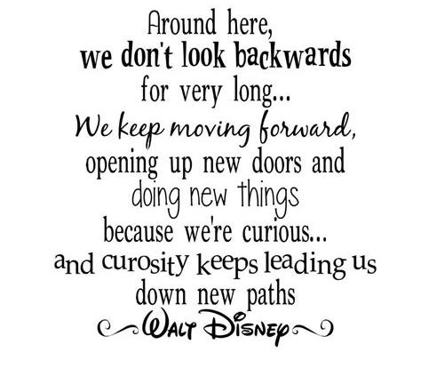 Look ahead and move forward
