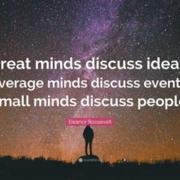 Be a doer not a gossip talker