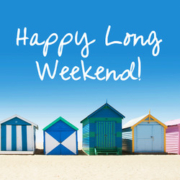 Happy long weekend