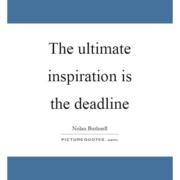 Deadline Anxiety